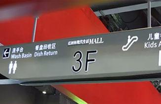 商场里面有哪些标识导视系统?